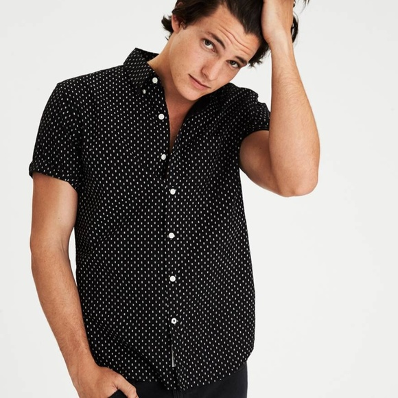 af78bde4 American Eagle Outfitters Shirts   Aeo Short Sleeve Pattern Oxford ...